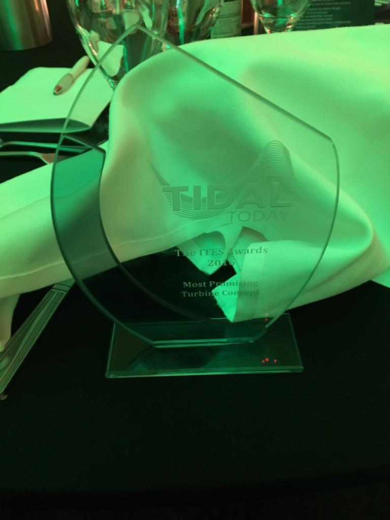 The award for Most Promising Turbine Concept 2016