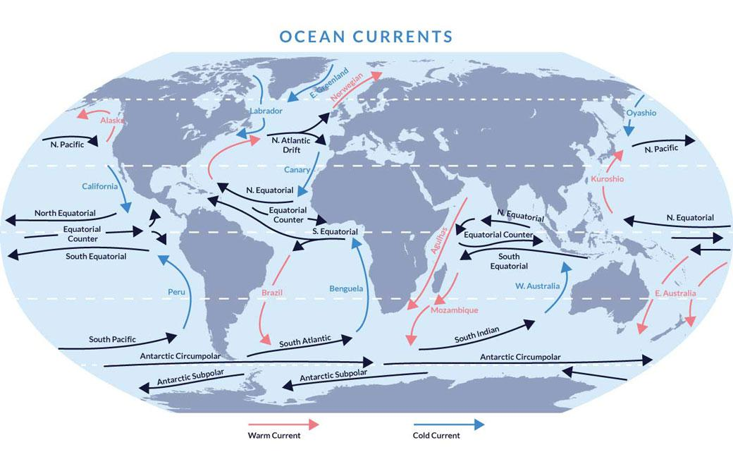 Illstration of global ocean currents