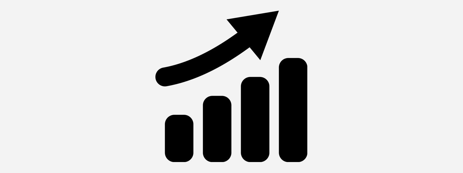 Illustration of a bar graph showing an increasing trend