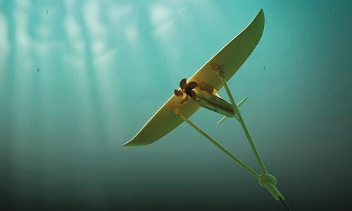 Picture of Minesto's patented technology for tidal energy, Deep Green