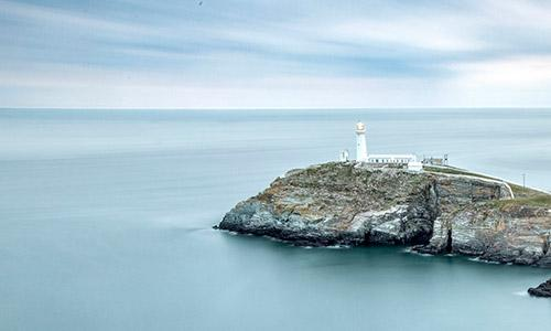 The South Stack Lighthouse at Holy Island, Anglesey