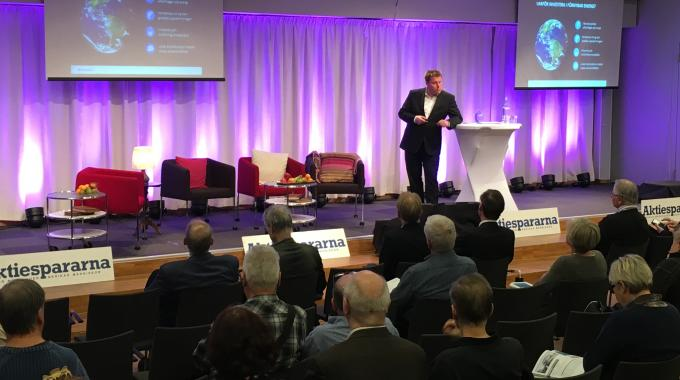 Martin Edlund presents at capital market event Stora Aktiedagen in Stockholm in November 2016