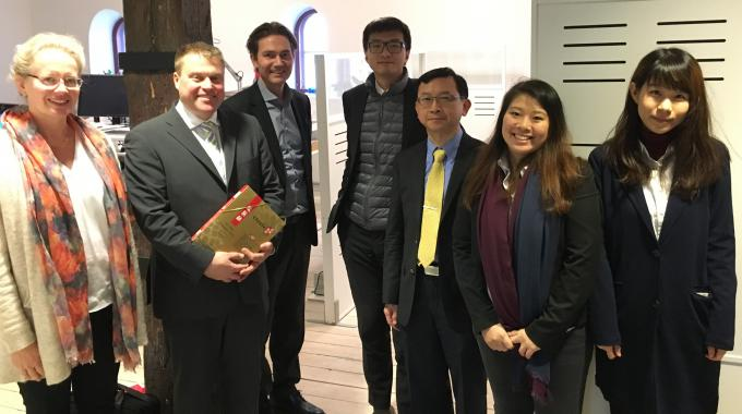 Taiwanese delegation visits Minesto in Gothenburg in December 2016