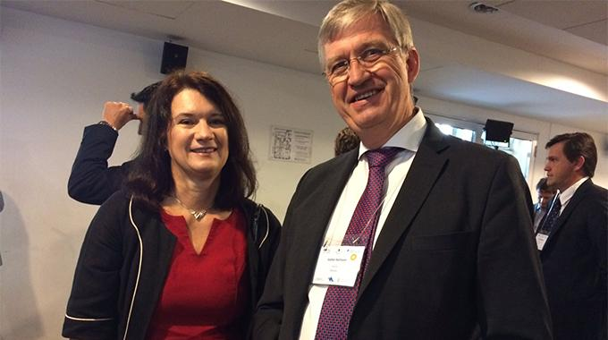 Minesto Board director Stefan Karlsson and Ann Linde, Swedish Minister for EU Affairs and Trade