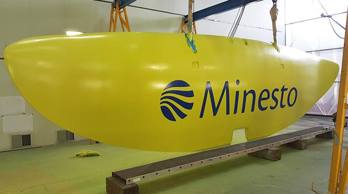 Minesto's first wing in commercial scale to its unique renewable energy concept Deep Green