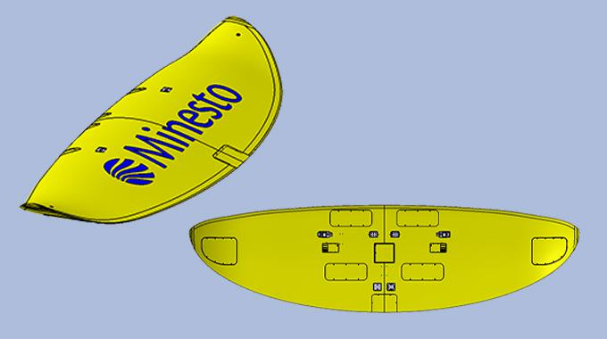 Design of the first wing in commercial-scale size to Minesto's Deep Green tidal energy power plant